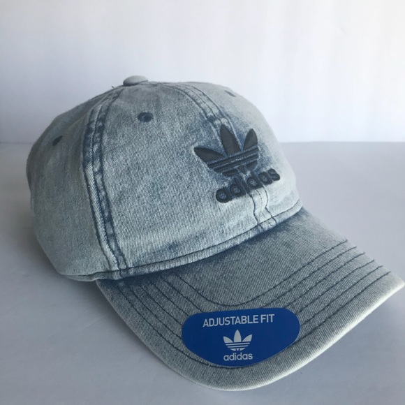 ea653012e958a adidas Originals Relaxed Washed Trefoil Denim Hat